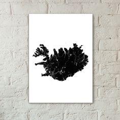 Poster with Iceland created by one of our customers. Create your custom poster with any city, country or place at justmaps.co.  // В нашем сервисе можно создавать не только постеры с городами, но с целыми островами. Например, этот постер с Исландией уехал в небольшой немецкий городок.  Свой постер вы можете создать на нашем сайте justmaps.co  #justmaps #scandinaviaclub #постер #исландия #poster #gift #map #подарок #iceland