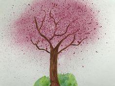 Sakura koi water colour cherry tree Cherry Tree, Koi, Watercolor, Colour, Plants, Pen And Wash, Color, Watercolor Painting, Cherry Blossom Tree