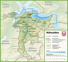 Canton of Fribourg map with cities and towns Maps Pinterest