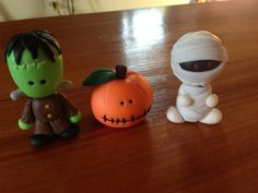 Monsters made with polymerclay #monsters