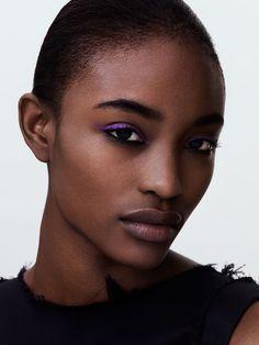 Just a flick of purple liner (Alicia Burke by Felicity Ingram for Models.com)