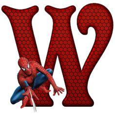 Whisper of Love: Alphabet Spiderman PNG Spiderman Cake Topper, Spiderman Theme, Spiderman Images, Black Spiderman, Spiderman Birthday Invitations, Superhero Birthday Party, Superhero Letters, Superhero Class, Minnie Png