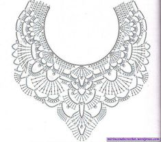 47 Ideas Crochet Lace Collar Accessories For 2019 - irish crochet Crochet Collar Pattern, Col Crochet, Crochet Lace Collar, Crochet Diagram, Thread Crochet, Irish Crochet, Crochet Shawl, Crochet Stitches, Crocheted Lace