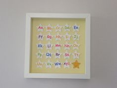 Image of Stars - Small - A-Z with Gold Star Star Images, Gold Stars, Paper Art, Alphabet, Nursery, Quote, Frame, Handmade, Decor