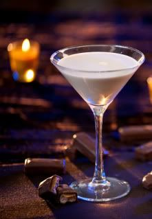 Milky Way Martini  :  (serve in martini glass)      -This is an adult version the classic candy bar. Mix coffee liqueur, chocolate vodka & cream.