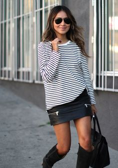 cute, skirt and boots