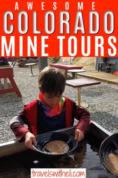 Kid-approved Colorado Gold Mine Tours in Colorado. Feel like you are stepping back in time as you explore the gold mines of Colorado. Mine tours, train rides, and panning for gold - these are the best family-friendly mining adventures in Colorado. Georgetown Loop, Panning For Gold, Gold Mine, Train Rides, Travel With Kids, Colorado, Entertainment, Tours, Explore