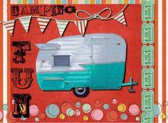 Free printable Camping Fun Postcards