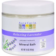Aura Cacia Aromatherapy Mineral Bath Lavender Harvest - 16 oz - Aura Cacia Aromatherapy Mineral Bath Lavender Harvest Description: NEW LOOK! / Same Great Lavender Harvest Pure Essential Oils Relaxing Lavender Aromatherapy A Blend of Lavender, Lavandin, Spike Lavender The Authentic Aromatherapy Experience..Aura Cacias Relaxing Lavender evokes a summertime stroll through a field of flowers and sweet herbs under an azure blue sky. Create an at-home spa treatment that calms the senses, purifies…