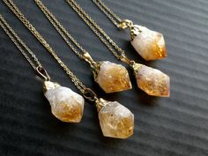 Citrine pendant gold double terminated crystal jewelry citrine necklace citrine pendant citrine jewelry raw rough gold dipped citrine crystal necklace orange stone pendant november birthstone aloadofball Image collections