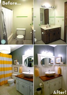 A Small Bathroom Makeover Before And After Pinterest Cheap - Small bathroom updates on a budget