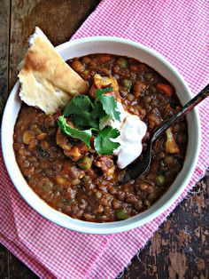 sweetsugarbean: Lucky: Lentil & Chickpea Curry with Coconut Milk