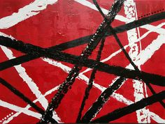SOLD! Classic Rock - original 18 x 24in abstract Van Halen music cover red black white mixed media art decor metal band  This was a commission piece for a Van Halen lover. I can recreate this in any size or if there is another band design you want just message me.  COLOR: Red, black, white, and silver.  SIZE: 18in x 24in  MEDIUM: Acrylic paint, texture paste, gel medium, silver flakes, and varnish. All of my paintings are original and have not been made into prints unless otherwise stated…
