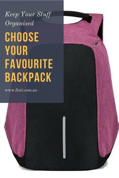 Backpacks are great for travelling, school, hiking or just for getting around. Keep everything together no matter what you are doing. Order your backpacks here www.fiori.com.au backpacks,