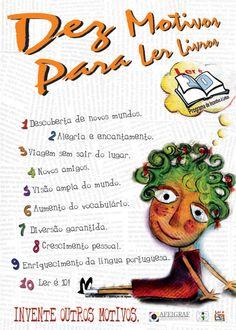 Português na tela: Dez motivos para LER livros...