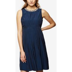 be8c8224e440d A Pea In The Pod Maternity Embellished A-Line Dress ($158) ❤ liked