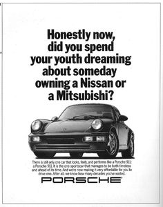great ad - (not a Porsche fan, though) I almost killed myself catching up to a Lotus to see what is was - LOL