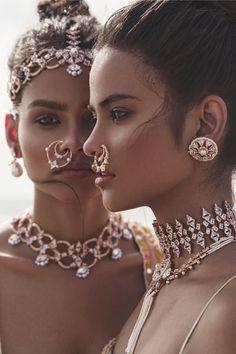 40 Trendy Ideas For Fashion Photography Indian Boho Piercings, Boho Fashion, Fashion Jewelry, Woman Fashion, Fashion Fashion, Indian Wedding Fashion, Indian Fashion Modern, Mode Boho, Sea Glass Jewelry