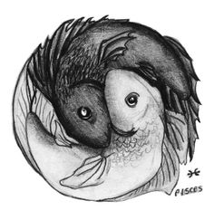 Pisces Yin Yang tattoo. Would be cool to get for my brothers since they're twins and Pisces