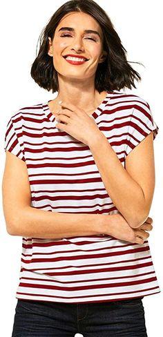 passt auch eine Nr. kleiner  Street One ist ein Spezialist für Damenmode und bietet in den Bereichen Hosen & Jeans, Shirts & Blusen, Kleidern & Röcken sowie Jacken & Mänteln in elegante Designs in verlässlicher Passform und hochwertiger Qualität an.Die Accessoires- und Taschenkollektionen runden den Look stilsicher ab. Mit klaren, trendgenauen und ausgesuchten Lieblingsstücken für einen lässigen und femininen Look kreiert die Marke ein Easy-to-wear Feeling an 365 Tagen im Jahr! Das Street… Elegante Designs, Street One, Shirt Bluse, Trends, Mantel, Jeans, Tops, Fashion, Dress Skirt