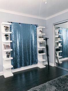 Amazing Ikea Lack Shelf Hacks Ideas For Inspirations 12 - Home Decor Ideas 2020 Ikea Lack Shelves, Lack Shelf, Floating Shelves Diy, Makeup Beauty Room, Makeup Rooms, Makeup Salon, Diy Makeup, Diy Beauty Room, Ikea Makeup