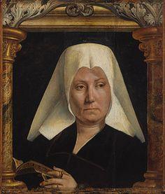 Portrait of a woman  (1520) -Quentin Metsys (1466, Lovaina, Bélgica - 1530, Amberes, Bélgica).  Pintor flamenco fundador de la escuela de Amberes, cuya obra representa la primera síntesis efectiva entre la tradición flamenca y las ideas del renacimiento italiano