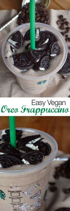 Vegan Oreo Frappuccino Recipe The Oreo Frappuccino also known as a Cookies and Cream Frappuccino, is a well loved item on the Starbucks secret Frappuccino menu. Turn your favourite Starbucks drink vegan by following this delicious dairy-free recipe! It's like a vegan cookies and cream milkshake.