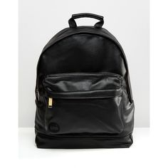 Mi-Pac Tumbled Faux Leather Backpack ($63) ❤ liked on Polyvore featuring bags, backpacks, black, fake leather backpack, vegan bags, rucksack bag, day pack backpack and vegan backpack