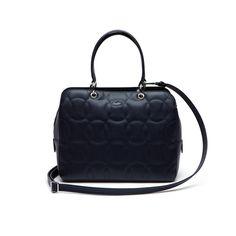 9ec76476d7e1a LACOSTE Women s Off The Court Unicolor Zip Boston Bag - peacoat.  lacoste   bags  shoulder bags  leather