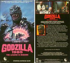 """VHS """"Godzilla 1985"""" New World Video box art"""