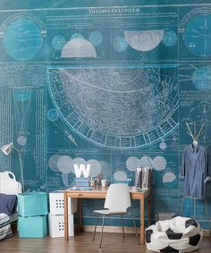 This unique wallpaper is taken from a rare eighteenth century lithograph, available in 2 colour variants Tile Wallpaper, Unique Wallpaper, Study Office, Home Office, Interior Decorating, Interior Design, Engineered Wood, Mosaic Tiles, Interior Inspiration