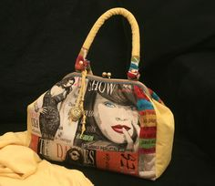 Bolsa Baú New York - handmade by Costura Xtrodnária