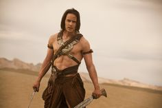 Taylor Kitsch as John Carter, from the movie of the same name. Don't care what anyone says, I still think they did a great job with this film. READ THE BOOKS, and see for yourself.