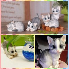 ==> [Free Shipping] Buy Best Free shipping 1pc Retail Cat Lifelike Kitten Pet Figure Resin toy 4 styels cake home office car decoration party supply kid gift Online with LOWEST Price | 32691306698