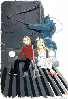 Tags: Anime, Fullmetal Alchemist, Winry Rockbell, Edward Elric, Alphonse Elric