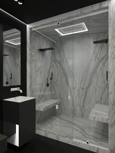 48 Stunning Black Marble Bathroom Design Ideas 48 Stunning Black Marble Bathroom Design Ideas Marble Has Been A Well Known Building Material For Quite A Long Time Innumerable Gems Have Been Made Out Of Stunning Black Marble Bathroom Design Ideas 02 Modern Marble Bathroom, Minimalist Bathroom, Contemporary Bathrooms, Bathroom Black, Marble Bathrooms, Black Bath, Home Design, Design Ideas, Marble Showers