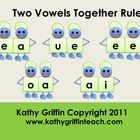 Help your students remember the phonics rule for when two vowels are together in a word.  Kathy Griffin creates a multimedia file that is repetitiv...