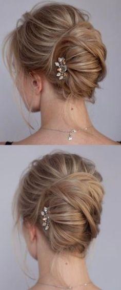 Featured Hairstyle: tonyastylist (Tonya Pushkareva); www.instagram.com/tonyastylist; Wedding hairstyle idea.