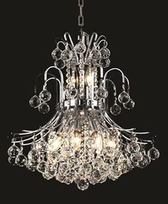 With ten 60W Candelabra type bulbs combined with a  royal cut crystal and chrome finish, this Elegant Lighting 8001D9C/RC will surely add heaps of splendor into your homes.  Call 888-752-5448 and Get the Lowest Price in the Market