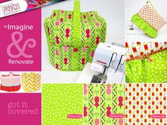 Re-imagine & Renovate: Sewing Machine and Serger Covers update and upgrade their previous tuts ... sew4home