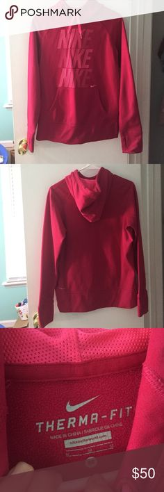 Pink Nike sweatshirt Perfect condition! Great for fall/winter to keep you warm!!! Nike Jackets & Coats