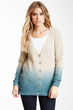 Ombre Wool Blend Cardigan