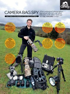 The professional photographer's camera bag: the perfect kit for versatile landscape photography (NOTE: Seems odd to call this a landscape kit. I don't see many landscape guys walking around with a 500 and