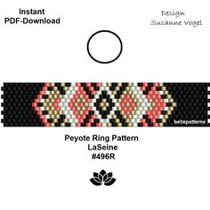 Diy Jewelry Rings, Beaded Rings, Beaded Jewelry, Beaded Bracelets, Bead Loom Patterns, Peyote Patterns, Beading Patterns, Peyote Beading, Rings