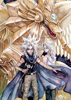 Pixiv Id 960137, Yu-Gi-Oh! Duel Monsters, Yu-Gi-Oh!, Yami Marik, Marik Ishtar, The Winged Dragon of Ra