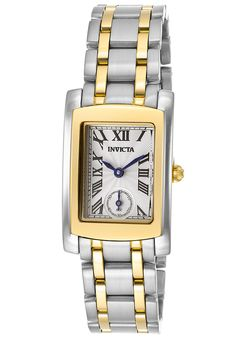 Invicta Women's Angel White Metallic Dial Two Tone Stainless Steel - Watch 15622,    #Invicta,    #15622,    #WatchesCasualQuartz