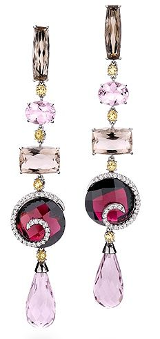 Beautiful Rubies, Diamonds earrings www.finditforweddings.com