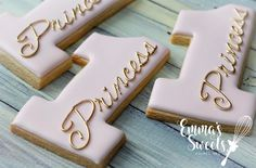 """1,824 Likes, 20 Comments - Mary (Emma's Sweets) (@_emmas__sweets) on Instagram: """"Princess turning 1  Number 1 cookie cutter and gold dust from @trulymadplastics . . #emmassweets…"""""""