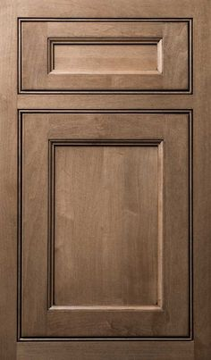 Vogue door done in Maple with a Custom Color finish - of course it will be in white though.Special Vogue door done in Maple with a Custom Color finish - of course it will be in white though. Shaker Style Kitchen Cabinets, Shaker Style Kitchens, Kitchen Cabinet Styles, Shaker Cabinets, Kitchen Cabinet Doors, Kitchen Cabinetry, Brown Cabinets Kitchen, Inset Cabinets, Staining Cabinets