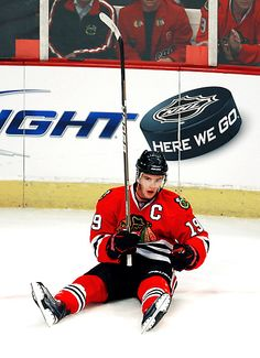 "Get up, Jonathan Toews - ""Here We Go"" (nice ad placement)"
